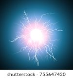 electric flash lightning | Shutterstock .eps vector #755647420