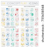 infographics concept icons of... | Shutterstock .eps vector #755658568