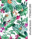 seamless bright multi color... | Shutterstock . vector #755665180