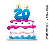 illustration of sweet food... | Shutterstock .eps vector #755671039