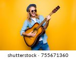 music is my lifestyle  excited... | Shutterstock . vector #755671360