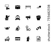 protest icons   expand to any... | Shutterstock .eps vector #755682538