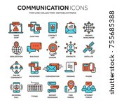 communication. social media.... | Shutterstock .eps vector #755685388