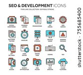 seo and app development. search ... | Shutterstock .eps vector #755685400