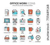 business and office work.... | Shutterstock .eps vector #755689168