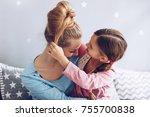 parent and children... | Shutterstock . vector #755700838