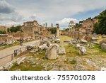 rome  italy   june 27  2013 ... | Shutterstock . vector #755701078