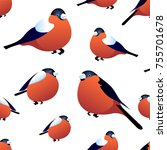 seamless pattern with... | Shutterstock .eps vector #755701678
