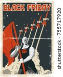 black friday vector poster.... | Shutterstock .eps vector #755717920