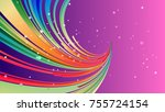 abstract colorful pink and... | Shutterstock . vector #755724154
