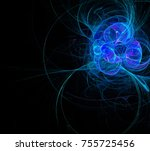 Beautiful Fractal Blue Circles...