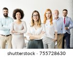 group of successful business... | Shutterstock . vector #755728630