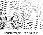 abstract halftone wave dotted...   Shutterstock .eps vector #755730544