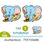 find differences  education... | Shutterstock .eps vector #755733688