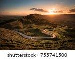 Mam Tor Winding Road Sunset In...