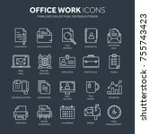 business and office work.... | Shutterstock .eps vector #755743423