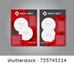 pamphlet and circle and black... | Shutterstock .eps vector #755745214