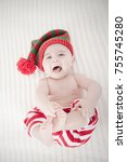 six months old baby boy lying... | Shutterstock . vector #755745280