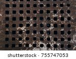 Texture Of Grid Metal