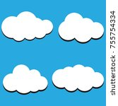 vector illustration of clouds... | Shutterstock .eps vector #755754334