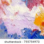 highly textured colorful... | Shutterstock . vector #755754973