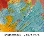 highly textured colorful... | Shutterstock . vector #755754976