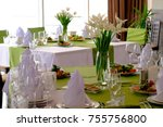 beautiful flowers on table in... | Shutterstock . vector #755756800