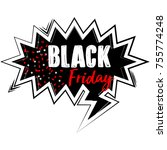 black friday label isolated on... | Shutterstock .eps vector #755774248