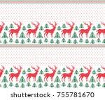 winter festive christmas... | Shutterstock .eps vector #755781670