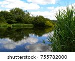 river avon at breamore in july   Shutterstock . vector #755782000