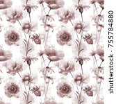 seamless pattern with... | Shutterstock . vector #755784880