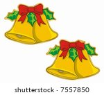 christmas bells sticker  normal ... | Shutterstock .eps vector #7557850