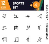 sport icon collection vector set | Shutterstock .eps vector #755794546