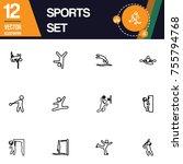 sport icon collection vector set   Shutterstock .eps vector #755794768