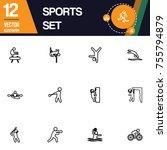 sport icon collection vector set | Shutterstock .eps vector #755794879
