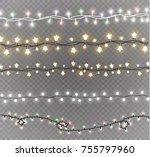 christmas lights isolated on... | Shutterstock .eps vector #755797960