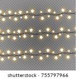 christmas lights isolated on... | Shutterstock .eps vector #755797966