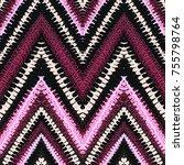 grunge chevron vector pattern... | Shutterstock .eps vector #755798764