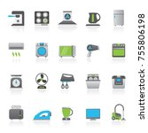 household appliances and... | Shutterstock .eps vector #755806198