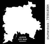 leipzig  germany city map vector | Shutterstock .eps vector #755818084