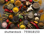 a selection of various colorful ... | Shutterstock . vector #755818153