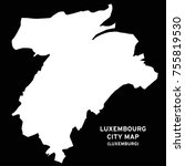 luxembourg or luxemburg city... | Shutterstock .eps vector #755819530