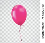 brilliant pink balloon with... | Shutterstock .eps vector #755827840