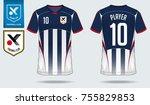 t shirt sport design. soccer... | Shutterstock .eps vector #755829853