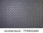 metal mesh of speaker grill...   Shutterstock . vector #755842684