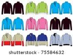fleece jacket illustrations | Shutterstock .eps vector #75584632