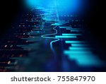 financial graph on technology... | Shutterstock . vector #755847970