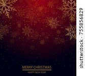 christmas and new year... | Shutterstock .eps vector #755856829