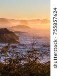 dawn's first magical light... | Shutterstock . vector #755857624