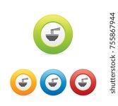 colorful round ramen noodle... | Shutterstock .eps vector #755867944